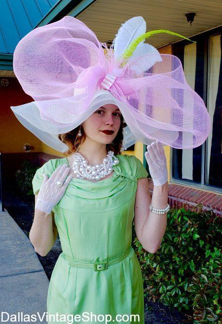 Kentucky Derby Sinamay Hats we have in stock may be Huge, Oversized, Bodacious or Flamboyant or Regular Size Modern Sinanay Derby Day Hats, Fascinators or Whimsies.