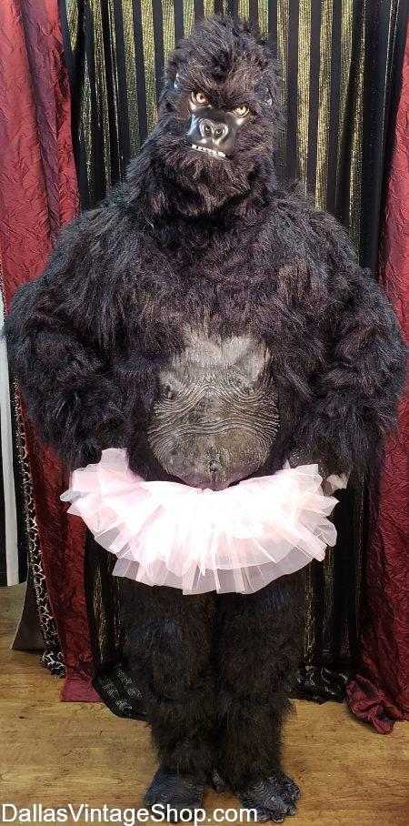 We have a Theatrical Circus Gorilla Costume, Gorilla in a Tutu Outfit and many Circus Animal and Popular Circus & Carnival Character Costumes in stock.