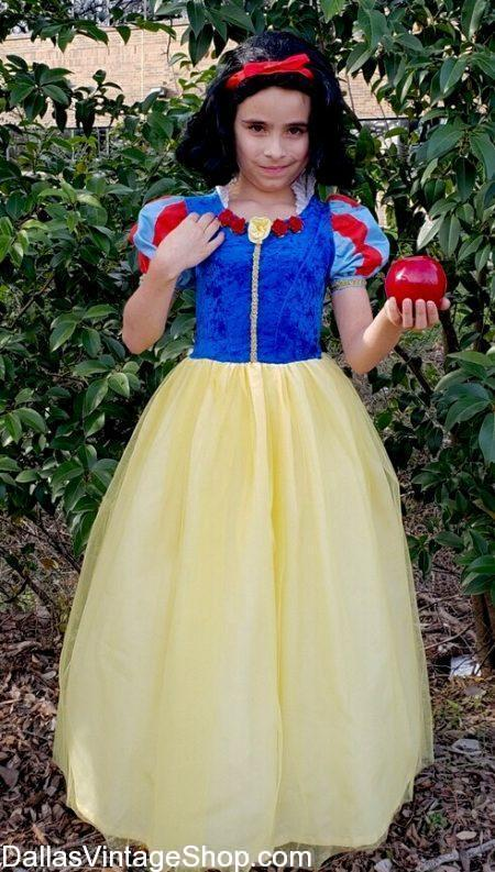 Here is the Child Princess Snow White Costume we have available to you now. Many Disney & Storybook Princess Costumes in Child Sizes are in stock now.