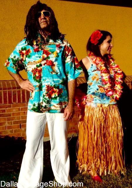 Hawaiian Print Shirts, Vintage Hawaiian Shirts, Tropical Hawaiian Print Men's Shirts, Tropical Floral Print Hawaiian Clothing & Hawaiian Luau Costume accessories are at Dallas Vintage Shop.