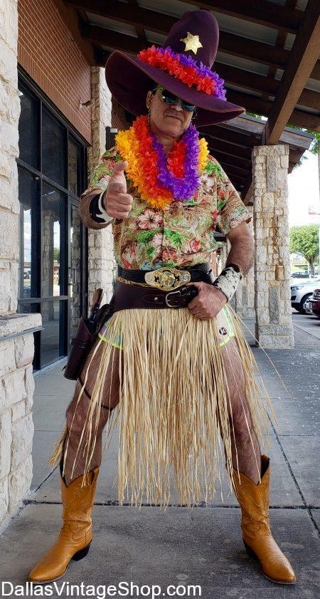 Texas Luau Costumes & Hawaiian Luau Costume Ideas are at Dallas Vintage Shop.