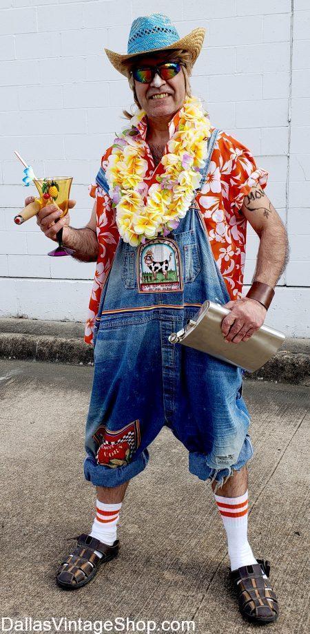 Huge Selection Trailer Trash Luau Costumes, Hawaiian Luau Costumes, Humorous Luau Outfits, Tropical Luau Attire & Luau Theme Party Ideas are in stock at Dallas Vintage Shop.