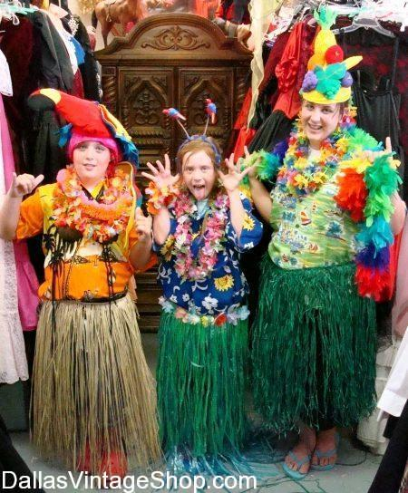 This is the Largest Selection Hawaiian Luau Costumes in the Dallas Area.