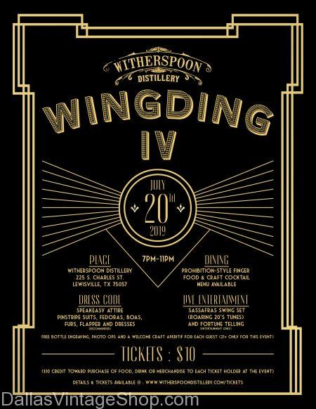 Witherspoon Distillery presents Wingding IV