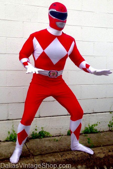 90's Costumes TV Shows, 90's Power Ranger Costume, 90's Red Ranger Costume, 90's Costume Ideas, 90's TV Show Costumes are in stock at Dallas vintage Shop.