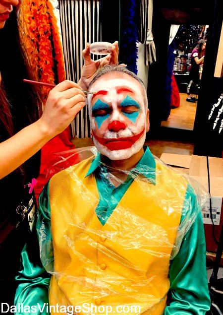 Joker Costume Makeup & Makeup for any Cosplay, Theatrical or Halloween Costumes are at Dallas Vintage Shop.