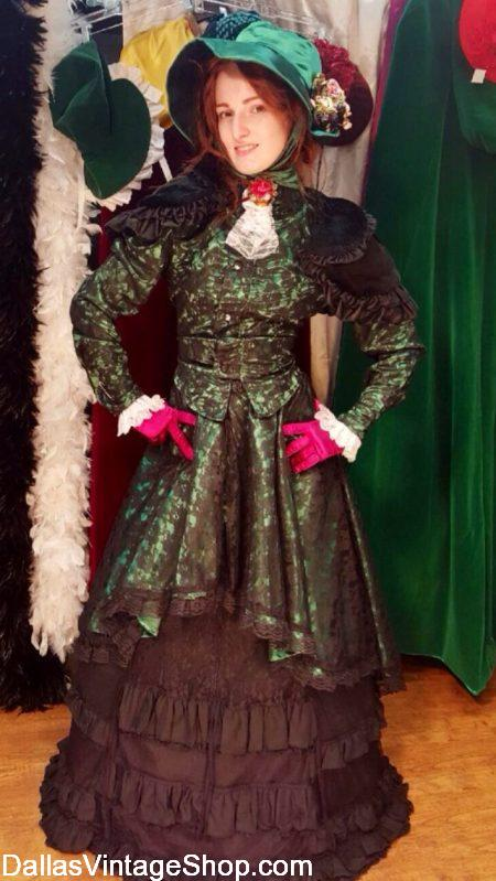 A Christmas Carol Fanny Costume, Dickens Scrooge's Sister Fanny Costume, A Christmas Carol Theatrical Wardrobes, Dickens Christmas Carol Characters Costumes are in stock at Dallas Vintage Shop..