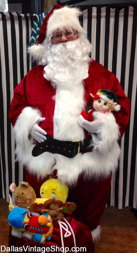 Deluxe Santa Suits, Deluxe Santa Clause Outfits & Best Quality Santa Suits from Dallas Vintage Shop.