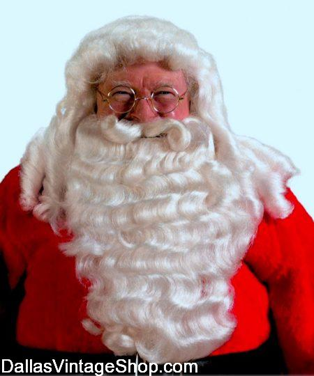 Professional Santa Beard,s Santa Wig & Beard Sets, Santa Clause Beard Selection is at Dallas Vintage Shop.