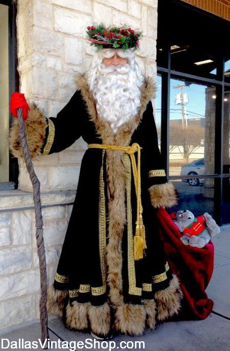 Father Christmas Father Christmas Robe, Father Christmas Costume, Father Christmas Head Wreath and all Father Christmas Accessories are at Dallas Vintage Shop.