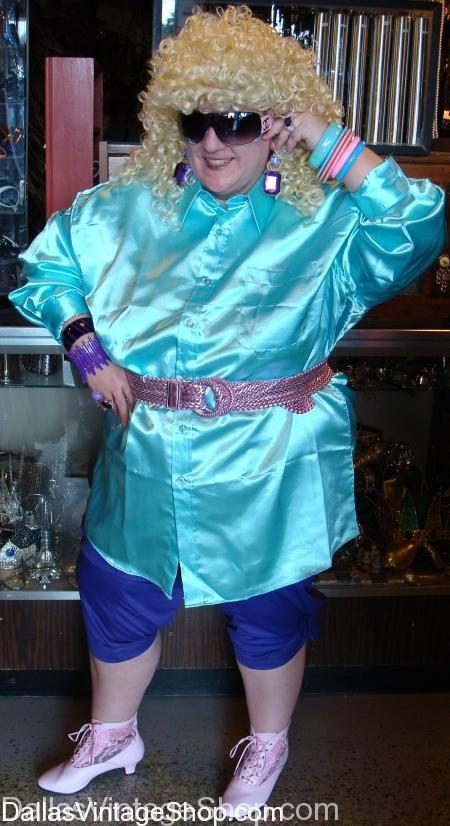 plus size 80's costume