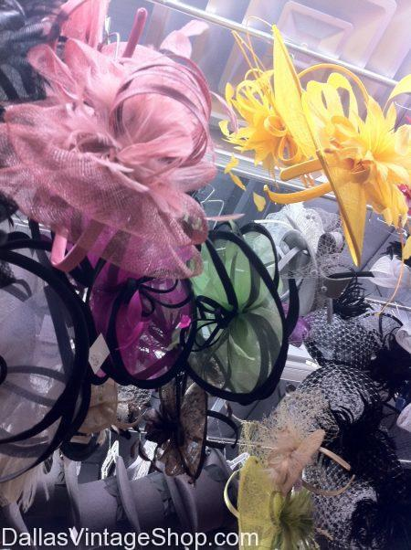 Fascinators for Derby Days, Flamboyant Facinators, Outrageous Fascinators, Whimsical Fascinators, Birdcage Netted Fascinators and any kind of Facinators you can imagine.