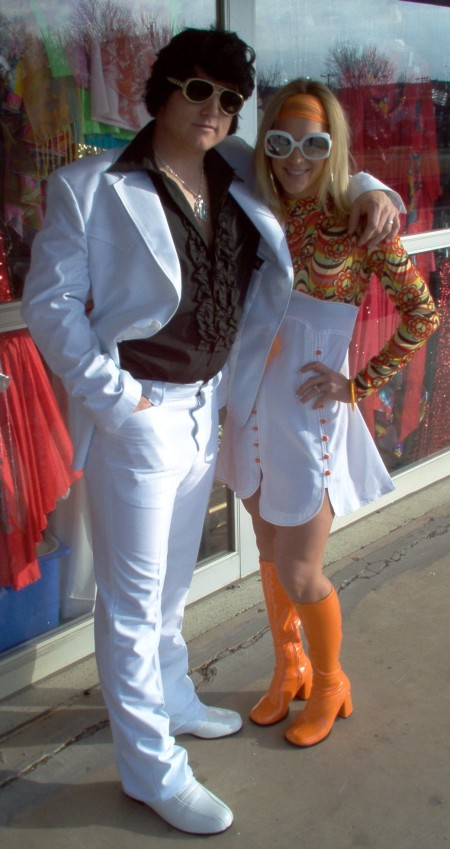 70's disco couple costumes 1970's Disco Couple Costumes.