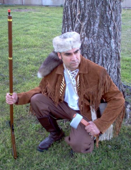 Daniel Boon - the great Frontiersman,  Davy Crockett, Davy Crockett Dallas, Davy Crockett Costumes Dallas, Davy Crockett Costume, Davy Crockett Alamo Costume, Davy Crockett Alamo Costume Dallas, Alamo Costume, Alamo Costume Dallas, Coon Skin Cap, Cooon Skin Cap Dallas, Racoon Skin Cap, Racoon Skin Cap Dallas,
