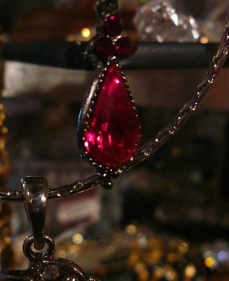 Ruby Red Vintage Style Necklace