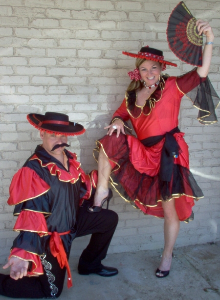 Spanish dancer costumes, Spanish Senorita Dancer Costumes, Spanish Male Dancer Costumes
