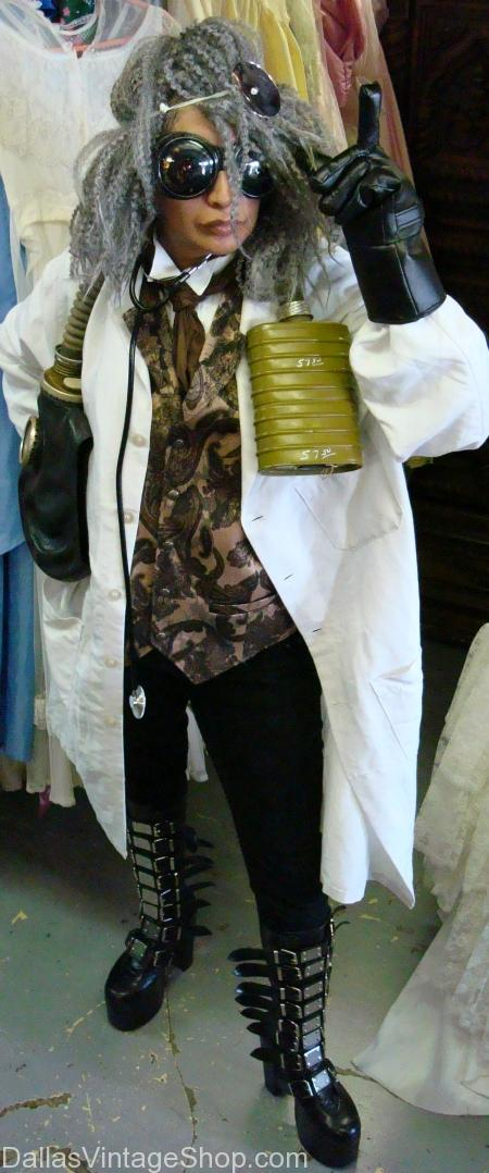 Steampunk, Steampunk Mad Scientist, Steampunk Mad Scientist Dallas, Stempunk Mad Scientist Costume, Steampunk Mad Scientist Costume Dallas, Mad Scientist Costume, Mad Scientist Costume Dallas, Mad Scientist Steampunk Male Costume,