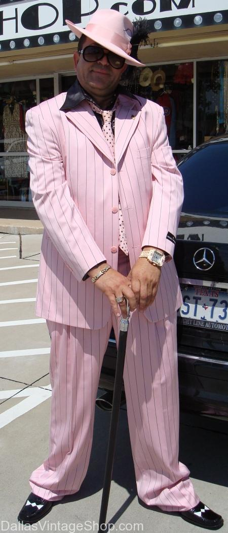 Pink Zoot Suit, zoot suits for sale in dallas, zoot suit clothing store in dallas, pink zoot hat