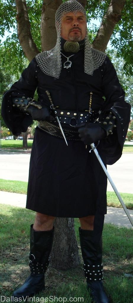 We stock these MEDIEVAL Assassin ATTIRE, Executioner COSTUMES & WEAPONS, Deluxe Quality Executioner Costume, Fantasy Executioner Assassin's Outfit , Medieval Executioner Gear, Renaissance Festival Executioner Costume, Theatrical Medieval Executioner Attire, Medieval Weapons & Sword Belts. Here is our Supreme Quality Executioner Outfit, Economy Executioner Outfits, Adult & Kids Medieval Executioner Costumes,