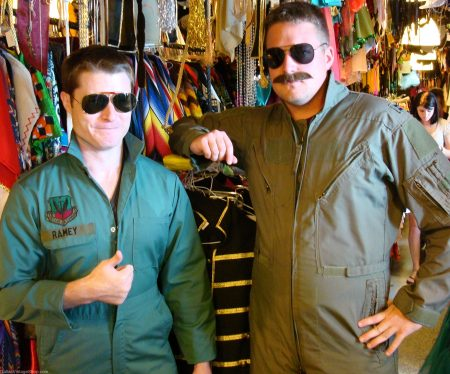 Military Flight Jumpsuits Top Gun Goose and Maverick Costumes