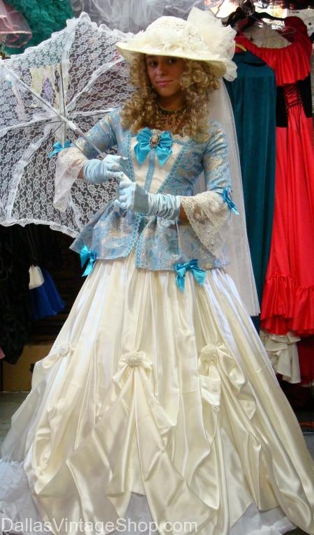 Dickens on The Strand Lady in Blue Costume