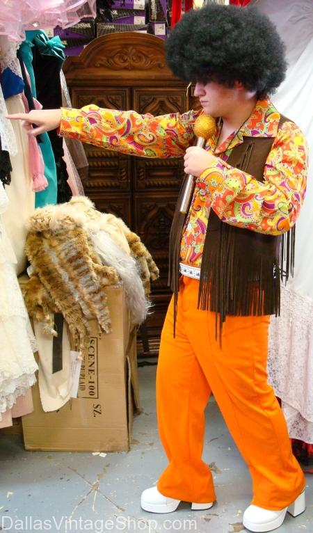 Hippie in Leather Fringe Vest Costume