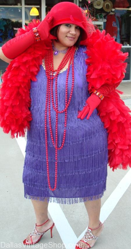 Red Hat Society Costumes, Hats, Boas