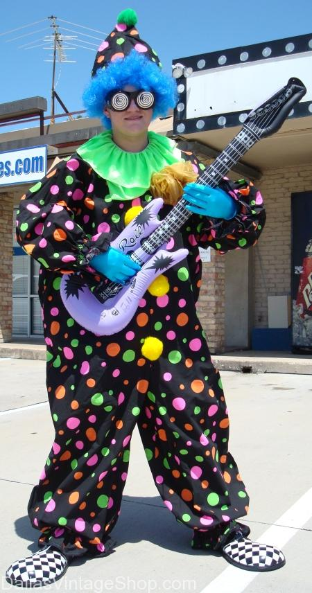 clown with guitar costume