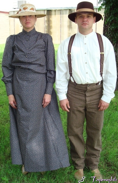 Pioneer Couple Costume, Pioneer Man and Women Costumes, Little House on the Prairie Costumes