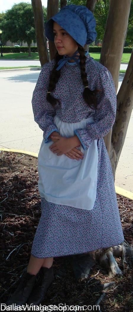 Pioneer Costumes, Colonial Costumes, Little House on the Prairie Costumes