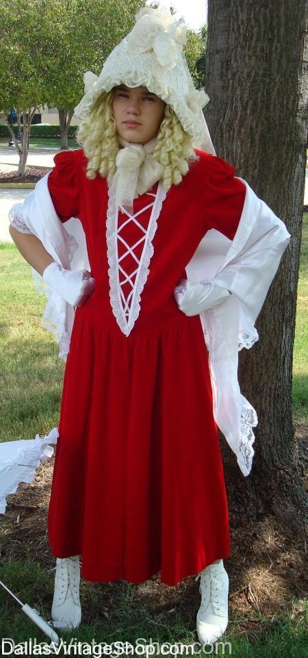 Girls Colonial Costumes, Childrens Pioneer Costumes, Nelly Olsen Costumes