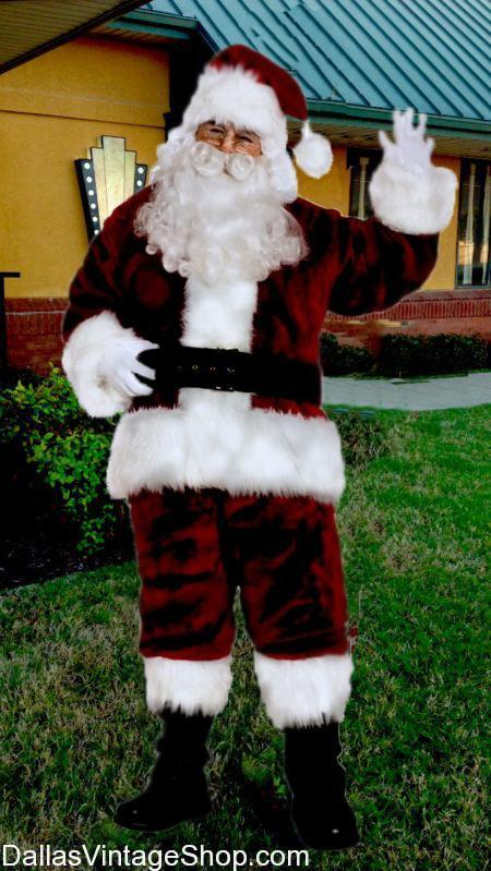 We have Professional Santa , Professional Santa, Professional Santa WIGS, Professional Santa BEARDS, Professional Santa aCCESSORIES, quaLITY Santa sUITS, suPREME Santa, superior Santa cosTUMES, Christmas Santa SuITS, Holiday SANTA sUits from Dallas vINTAGE sHop.