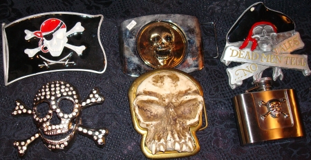 We have Pirate Belts & Belt Buckles, Skull Pirate Buckles, Pirate Bling, Pirate Accessories, Pirate Costume Accessories, Skull Pirate Jewelry, Cross Bones & Skull Belt Buckles, Quality Pirate Paraphernalia,