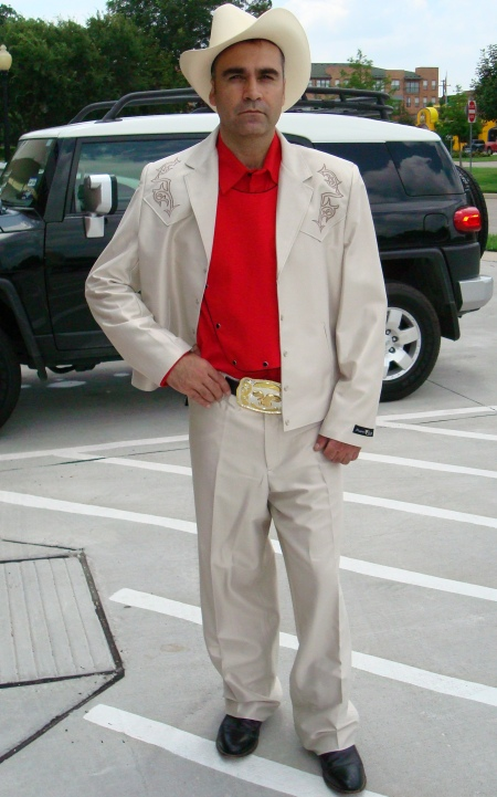 Ivory Polyester Western Suit