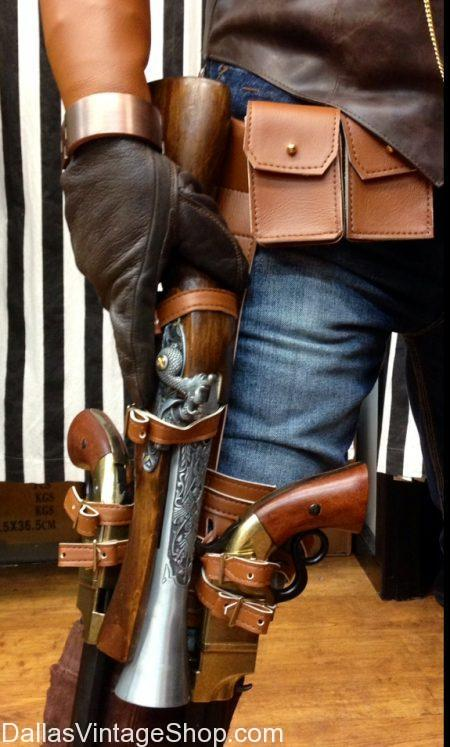 Build Your Own Steampunk Leg Holster, Build Your Own Leg Holster for Steampunk Shotguns, Steampunk Blunderbuss Leg Holster, Steampunk Weapons Leg Holsters