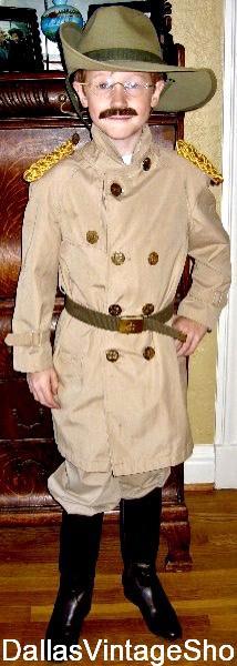 Kid's Historical Teddy Roosevelt, Teddy Roosevelt School Project Costumes, Children's Historical Costumes, Teddy Roosevelt Historical Costumes & Accessories are abundant at Dallas Vintage Shop.