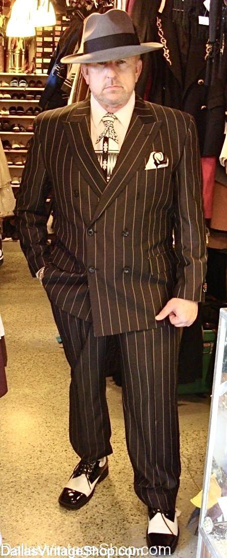 Men's Vintage Suits, Jerry Purvis Vintage Suits Collection, Vintage Pin Stripe Suits, Men's Period Suits are at Dallas Vintage Shop,