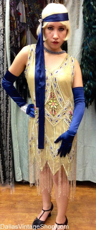 Look at these Roaring 20's Beaded Gowns, Supreme Quality 1920's Gowns, Great Gatsby Party Gowns, 1920's Art Deco Evening Attire, 1920's Show Stopper Flapper Gowns in stock now.