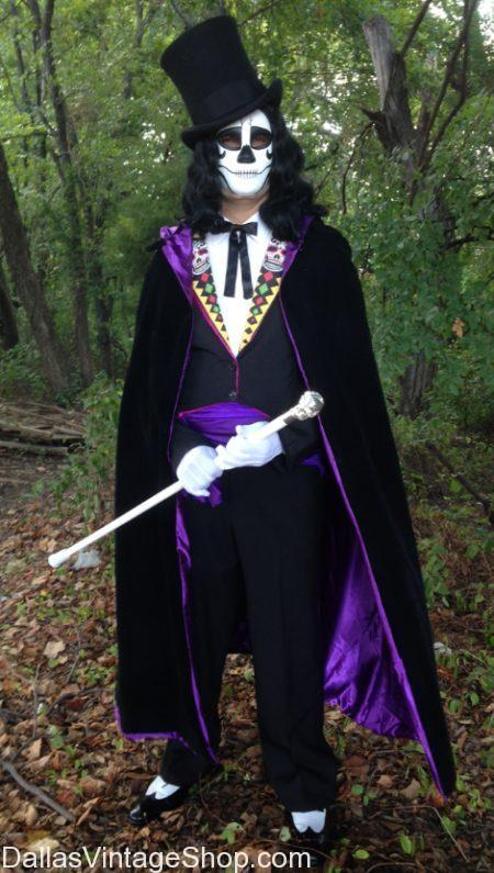 We have this amazing Day of the Dead Undertaker Costume pictured here. We are the largest Day of the Dead Costume Shop in Dallas, Get Day of the Dead Undertaker Costume, Day of the Dead Gentleman's Costume Ideas, Men's Day of the Dead Formal Attire, Day of the Dead Accessories, Dia de los Muertos Celebration Costumes, Old School Goth Day of the Dead Attire, Old West Men's Day of the Dead Tail Costs, Day of the Dead Long Coats, Day of the Dead Morning Coats, Day of the Dead Top Hats, Day of the Dead Goth Costumes, Victorian Day of the Dead Cloaks, Day of the Dead Capes, Day of the Dead Robes, Day of the Dead Skeleton Suits, Day of the Dead Skeleton Morph Suits, Day of the Dead Canes, Day of the Dead String Bow Ties, Day of the Dead Old West Ascots Cravats, Day of the Dead Masks, Black Somber Day of the Dead Vests, Day of the Dead Festive Vests, Tall Day of the Dead Victorian Boots, Day of the Dead Wigs, Day of the Dead Men's Costumes, Day of the Dead Quality Costumes, Economy Day of the Dead Costumes, Day of the Dead Mariachi Suits, Day of the Dead Mexican Costumes, Old Fashioned Day of the Dead Costumes, Mexican Day of the Dead Formal Attire, Dia de los Muertos Mens Attire in stock.