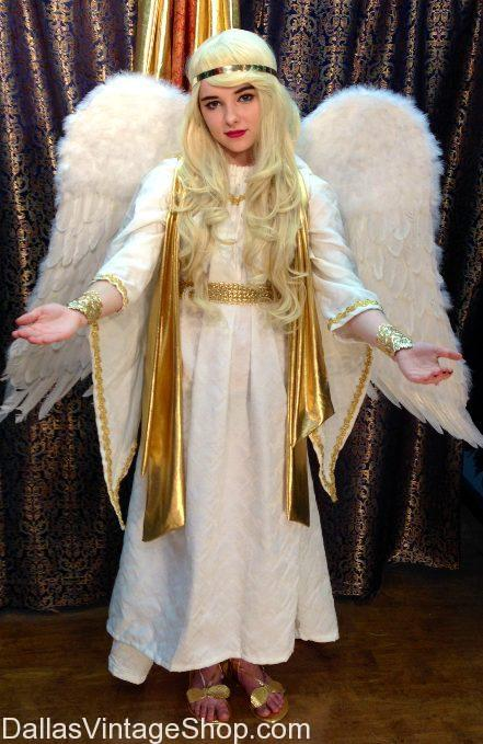 We have this Angel in stock in our Dallas Shop. Get a Traditional Angel Costume and Quality Angel Robes, Wings, Halos, angel, angel costumes, angel robes, angel traditional costumes, angel wigs, angel halos, fancy angel costumes, angel wings, quality angel wings, Heavenly angel attire, bible angel outfits, angel costume ideas, beautiful angels, ladies angel costumes, angel costume accessories, regal angel images, angel images and more at Dallas Vintage Shop.