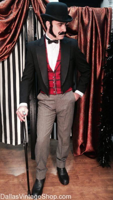 We have Racks of Dickens on the Strand Character Costumes, We have Victorian Gentlemens Attire, We have Dickens Era Clothing & Costumes at Dallas Vintage Shop.