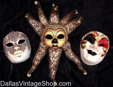 Quality Mardi Gras Masks & Costumes Unlimited at Dallas Vintage Shop. DFW's Largest & Most Elaborate Collection of Mardi Gras Costumes, Masks, Gala Attire & Accessories are in stock.