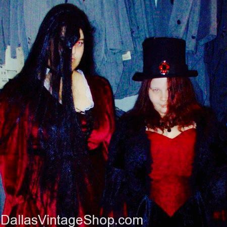 Goth in the 90's, Goth Costume Ideas, 90's Goth Costumes, 90's Goth Ideas & 90's Vintage Clothing & Accessories are at Dallas Vintage Shop.