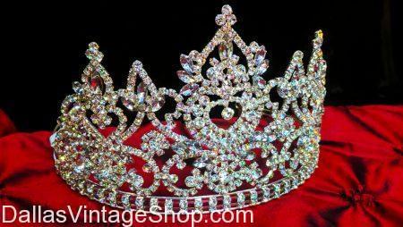 Iridescent Pageant Style Rhinestone Tiara