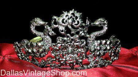 Gothic Gunmetal Grey Swan Crown/Tiara