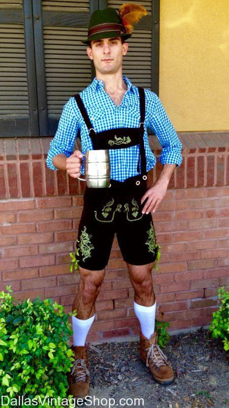 Dallas Vintage Shop has Oktoberfest Addison Info and Oktoberfest Addison Costumes including Oktoberfest Lederhosen, Oktoberfest German Plaid Shirts, Oktoberfest German Hats and Accessories.