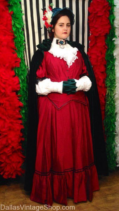 Get Holiday Carolers Costumes, Christmas Carolers Attire, Deluxe Christmas Carolers Outfits for Ladies & Men are at Dallas Vintage Shop.
