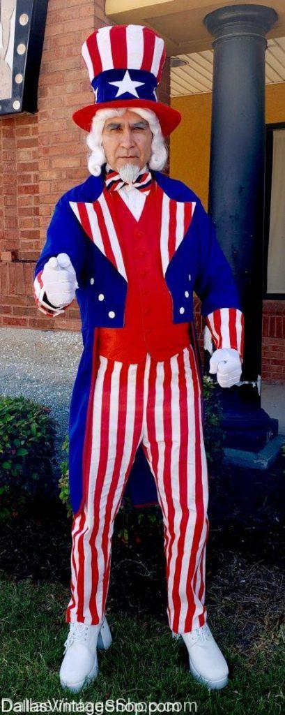 Uncle Sam Quality Costume, Patriotic Red White Blue Costumes, Uncle Sam Hats, Uncle Sam Traditional Costume, Uncle Sam Costume, Uncle Sam Theatrical Costume, Uncle Sam Professional Costume, Uncle Sam Costume Rentals, Uncle Sam Logo Costume, Uncle Sam Mascot Costume, Uncle Sam Wig & Beard, Uncle Sam Suit, Uncle Sam Tailcoat, Uncle Sam Red White Blue Suit. Uncle Sam USA Costume, American Uncle Sam Costumes,