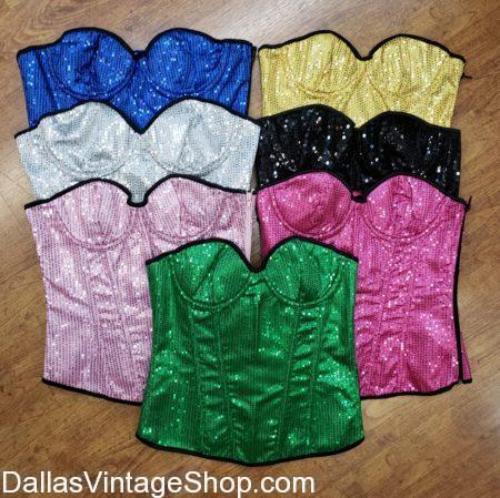 Burning MAn, Corsets, Sequins, Bright, Glitter, Rave Outfit, Festival Outfit, Festival, Bright Colored Sequin Corsets