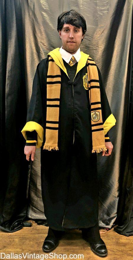 We have these amazing Hogwarts House Costumes & Accessories shown here in stock. We also have all ot the Hufflepuff House Outfits like this Cedric Diggory Costume. Get all of the HARRY POTTER Costumes, HOGWARTs HOUSE COSTUMES, Cedric Diggory Hufflepuff House Complete Outfit, Harry Potter Hoqwarts Sweaters & Robes, Harry Potter Movie Characters Attire, Hogwarts Houses Scarves & Beanies, Harry Potter Hogwarts House Wands, Hogwarts Ties & Bow Ties, Harry Potter House Accessories. Look at this Harry Potter Hogwarts Characters Costume and Harry Potter Excellent Quality Costumes or Accessorie available now.,